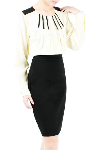 Secret Pianist Long Sleeve Blouse