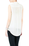 Sociable Conversations Shawl Top - Off White