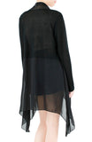 Soft Breeze Long Knit Cardigan - Black