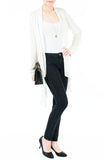 Soft Breeze Long Knit Cardigan - White