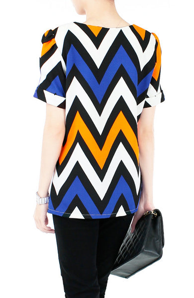 Steal the Show Chevron Blouse