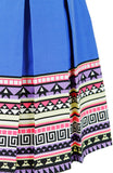 Travelling Vibes Flare Dress - Azure Blue
