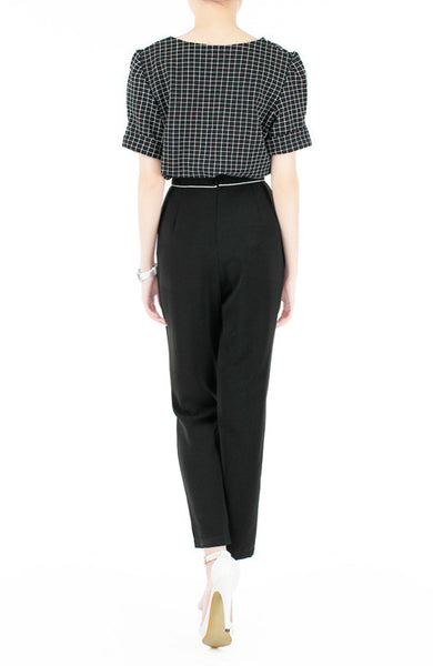 Walking On Thin Line Pleated Trousers - Black
