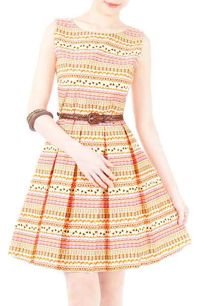 Wanderlust At Heart Flare Dress - Orange