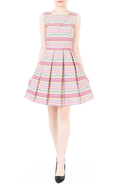 Wanderlust At Heart Flare Dress - Pink