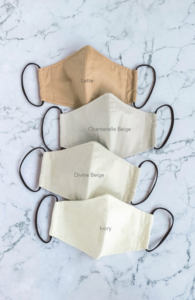 Essential Pure Cotton Face Mask in Chanterelle Beige