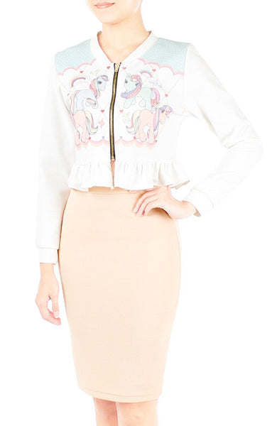 Whimsical Little Pony Cropped Cardigan