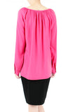 Wonder Ruche Two-Way Long Sleeve Top - Pink