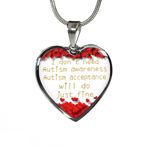 Autism Acceptance Necklace or Bangle