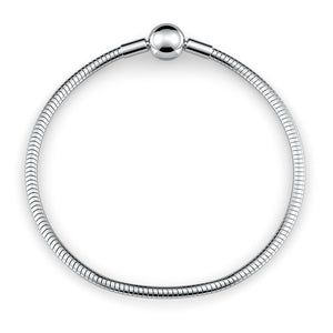 Beautiful Stainless Steel Ball Clasp Style Luxury Bracelet / Charm Bracelet Made In U.S.A.!