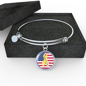 Support Our Troops Adjustable Bangle-Bracelet