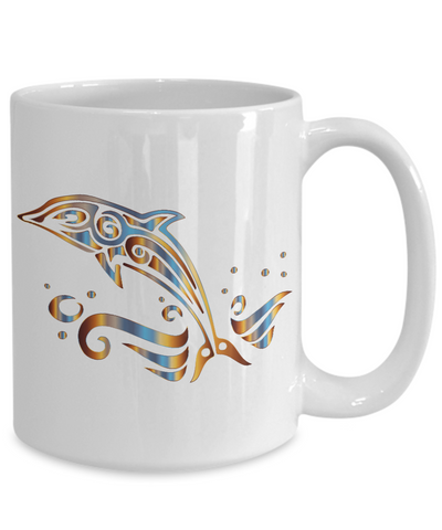 Tribal Dolphin Mug