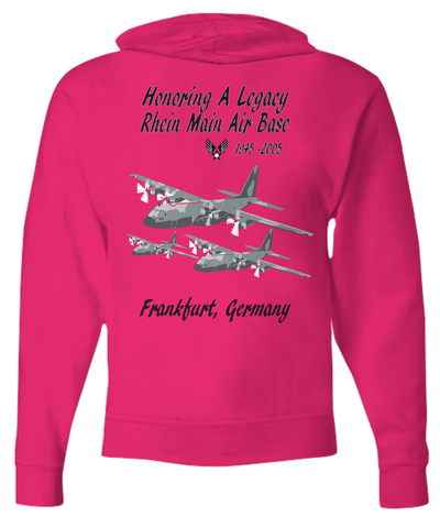 Rhein Main Air Base Germany C-130 Zip Hoodie