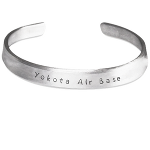 Yokota Air Base Stamped Bracelet