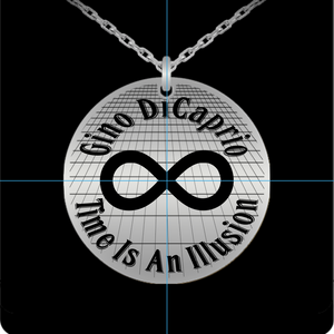 Laser Engraved 18K Gold Plated or Stainless Steel Gino DiCaprio Infinity Time Necklace