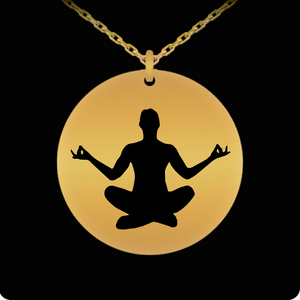 Laser Engraved 18K Gold Plated or Stainless Steel Meditation Necklace