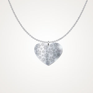 Paw Print Heart to Keep Close to your Heart <3 .925 Silver