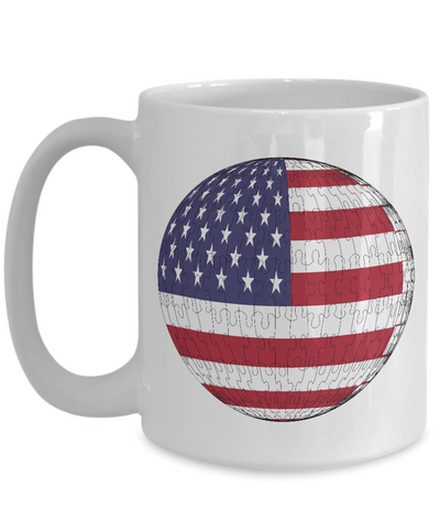 America Flag Sphere Jigsaw Puzzle