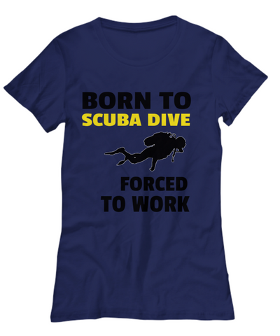 Born To Scuba Dive Mens or Womens Premium Tee