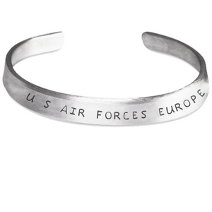 U.S. AIR FORCES EUROPE Stamped Bracelet