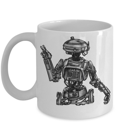 Artists Concept of L3-37 Star Wars Robot hand drawn by Award Winning Paint By James Mug