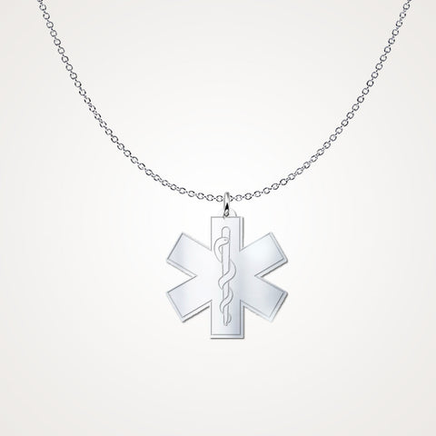 Custom First Responder Necklace in .925 Silver