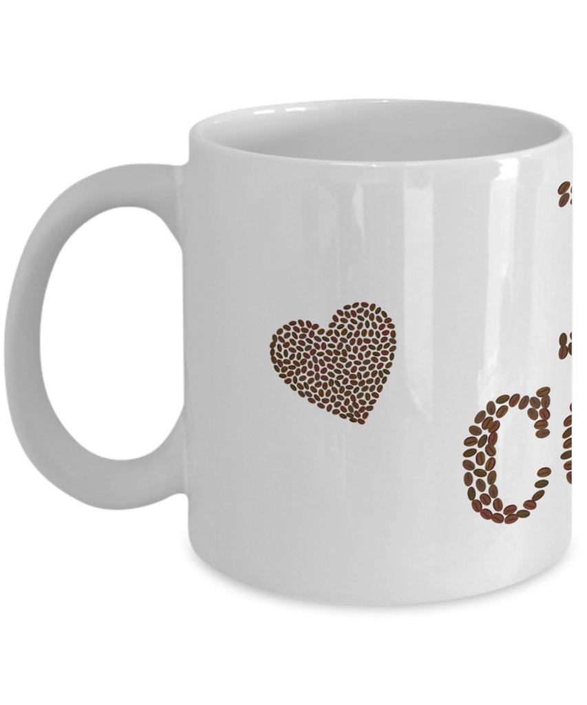I Love Coffee Beans Mug