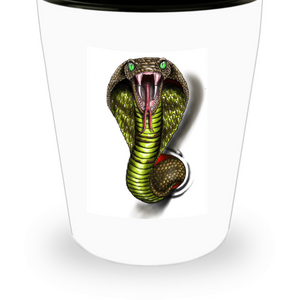 Cobra Shot Glass by Paint By James