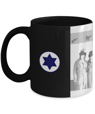 Israeli Air Force IAF Full Width Roundel and Pilot Mug