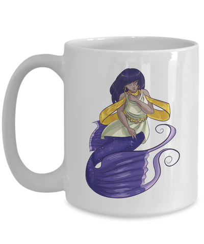 Cartoon Mermaid Mug