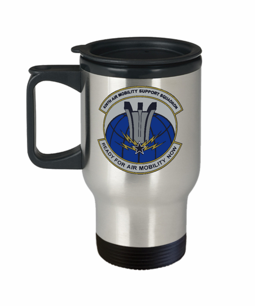 626th Air Mobility Support Squadron of Rhein Main Air Base Germany 14 oz Stainless Steel  HOT COLD Travel Mug Gift by Air Base Concepts and Our World Mall