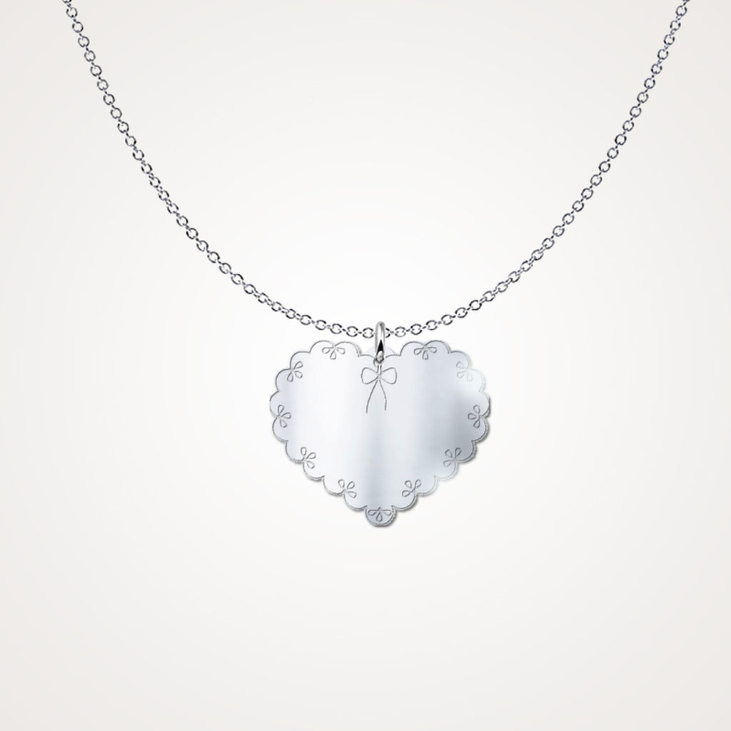 Laced Heart .925 Silver Necklace