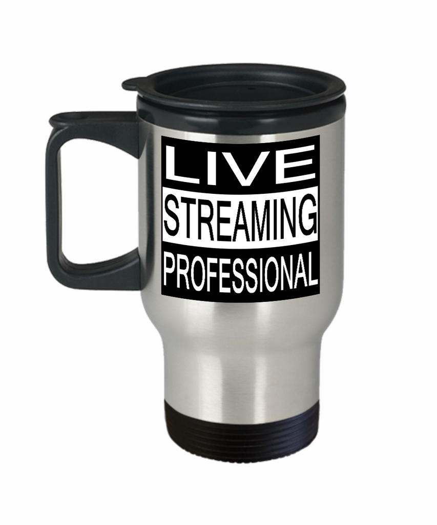 LIVE STREAMING PROFESSIONAL 14 oz Stainless Steel  HOT COLD Travel Mug Gift by Entrepreneur Insider and Our World Mall