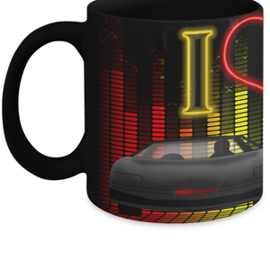 I Love The 80's Cars Mug