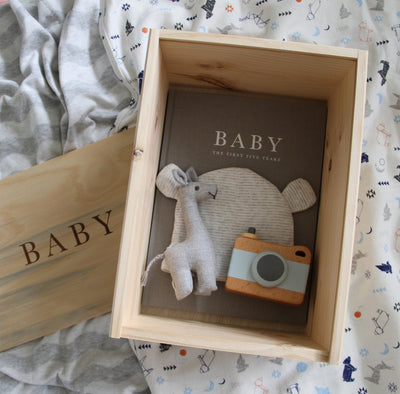 Wooden Baby Keepsake Box