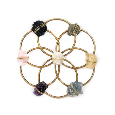 Small Flower of Life Healing Crystal Grid