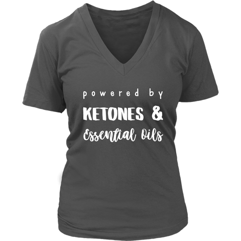 Ketones & Essential Oils Ladies V-Neck