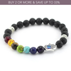 Chakra Essential Oil Diffuser Bracelets With Real Lava Stones