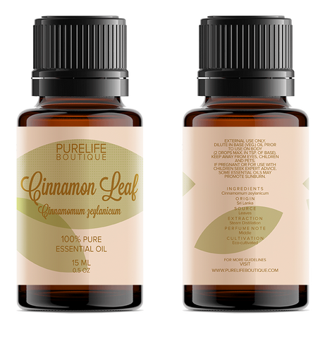 100% Pure Cinnamon Leaf Essential Oil