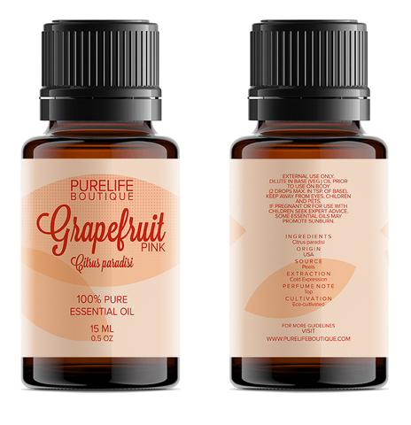 100% Pure Grapefruit Essential Oil (Pink)