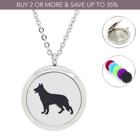 'German Shepherd' Essential Oil Diffuser Necklace - $10 Off This Week