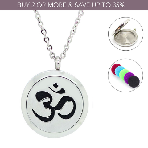 'Ohm' Essential Oil Diffuser Necklace - $10 Off This Week