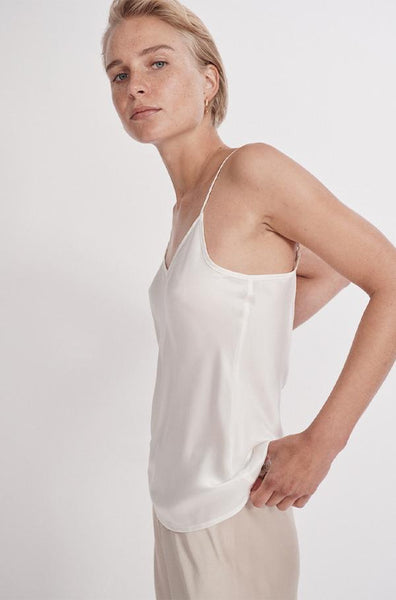 Bias Cut Cami in WHITE