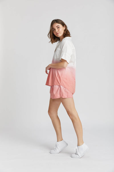 Sunset Short Sleeve Shirt in Ombre Blush
