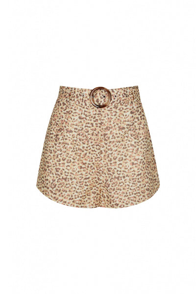 Virgo Short in Leopard