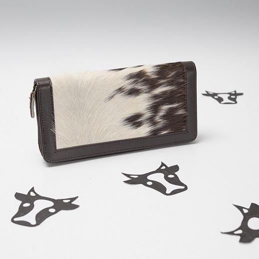 cowhide leather trim wallet