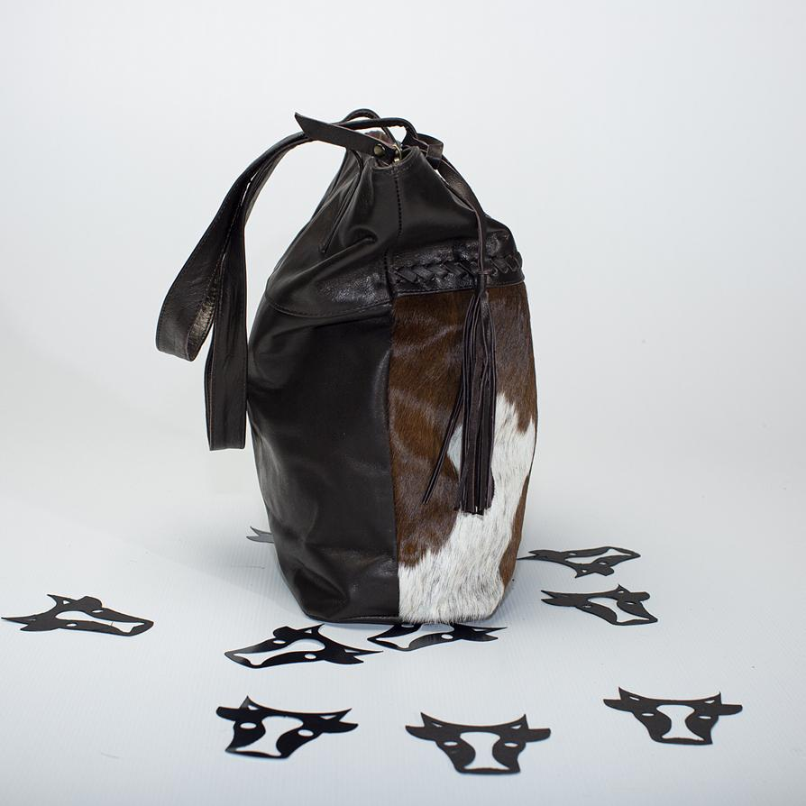 Chocolate detailed Tote Bag