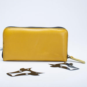 Mustard leather wallet