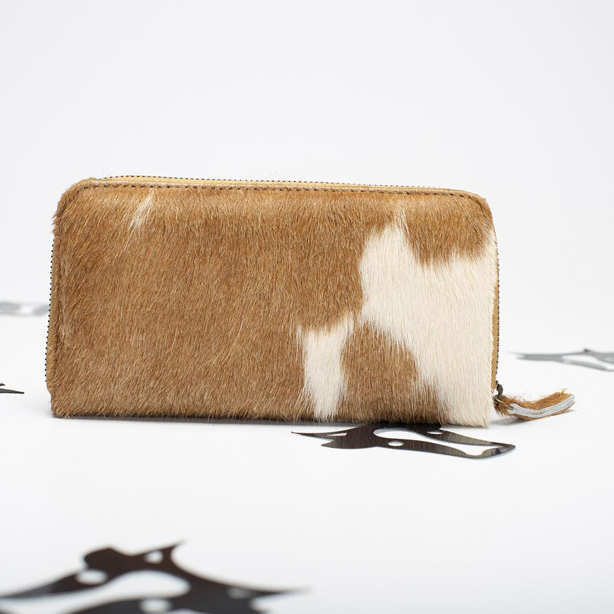 Tan cowhide wallet