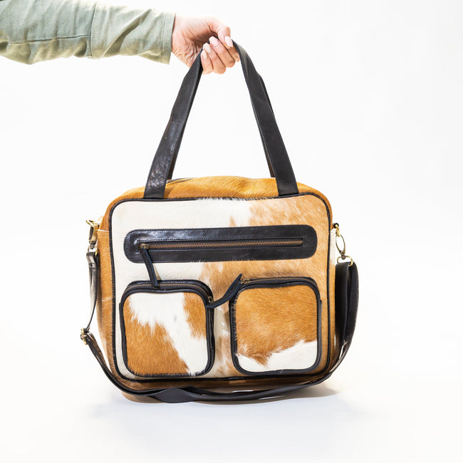 Roadie Day Bag Black / Tan - Pre Order